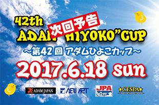 第42回アダムひよこカップ開催決定! 2017.6.18SUNイメージ